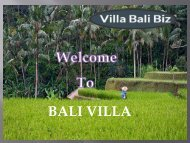 Do you want to spend your Bali vacation in an isolated manner