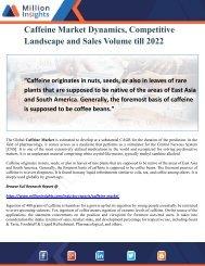 Caffeine Market Dynamics, Competitive Landscape and Sales Volume till 2022