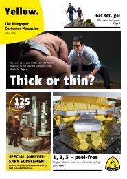 Yellow. The Klingspor customer magazine - Edition 1|2018
