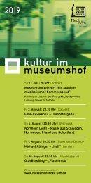 Kultur im Museumshof 2019
