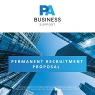 PA Business Support Permanent Recruitment 15