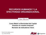 Recursos Humanos Y La Efectividad Organizacional (Roi)