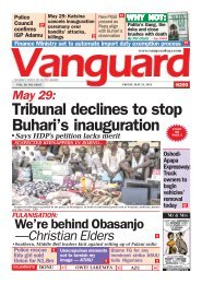 24052019 = May 29: Tribunal declines to stop Buhari's inauguration