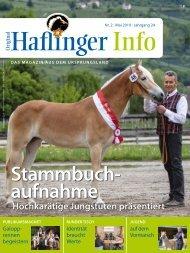 Haflinger Info – Mai 2019 (Leseprobe)