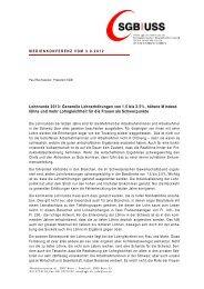 Lohnrunde 2013: Generelle Lohnerhöhungen von 1.5 bis 2.5 ... - SGB