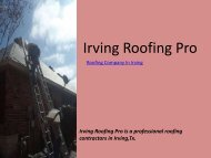 Roofing Company in irving - IrvingRoofingPro