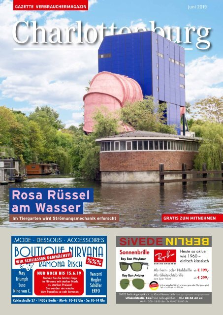Gazette Charlottenburg Juni 2019