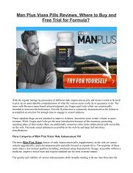 How Man Plus Vixea Male Enhancement Works?