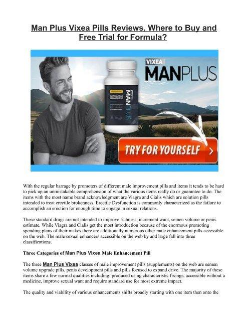 How Man Plus Vixea Male Enhancement Works?