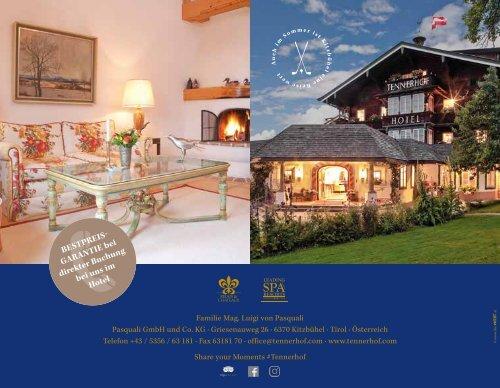 Tennerhof Gourmet & Spa de Charme Hotel Kitzbühel - Deutsch - Winter 2019 - 2020