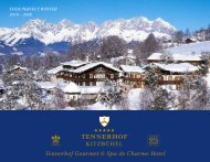Tennerhof Gourmet & Spa de Charme Hotel Kitzbühel - English - Winter 2019 - 2020