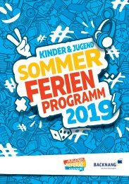 Sommer-Ferienprogramm 2019 der Stadt Backnang