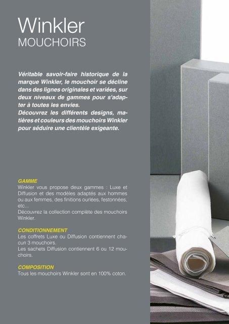 Leaflet Mouchoirs Winkler Automne-Hiver 2019