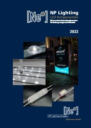 NEW: NP Lighting Katalog 2019/20 - LED Lösungen für Werbetechnik, Laden- und Messebau