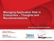 Managing Application Risk in Enterprises - Thoughts and Recommendations