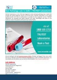 Best Pathology Labs in Delhi-TRUTEST Laboratories