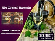 Hire Cocktail Bartender in the UK - Cocktails with Mario