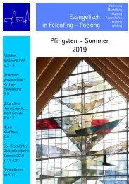 Gemeindebrief Pfingsten 2019