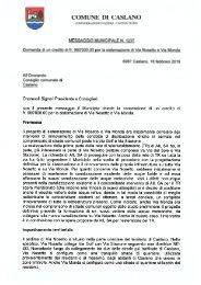 Messaggio municipale Sistemazione via Nosetto