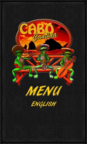 CABO CANTINA MENU ENGLISH