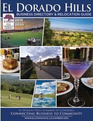 El Dorado Hills Chamber of Commerce Business Directory & Relocation Guide—2019/2020
