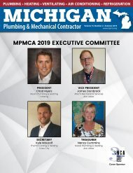 Michigan Plumbing & Mechanical Contractor Summer 2019