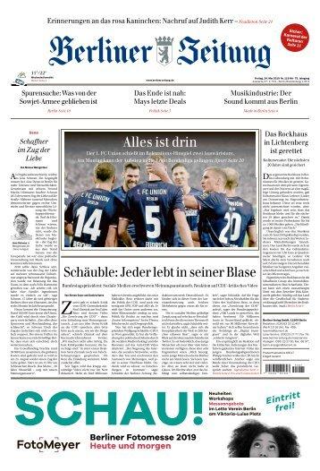 Berliner Zeitung 24.05.2019