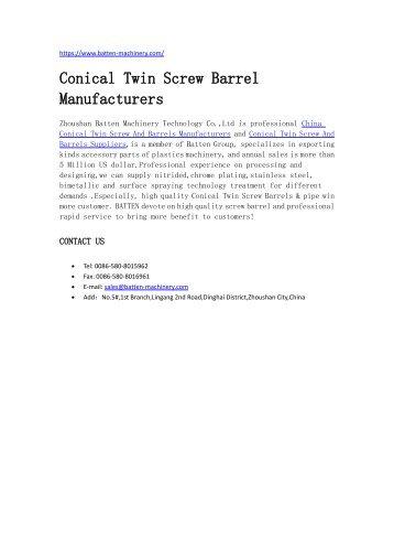 Zhoushan Batten Import and Export Co.,Ltd