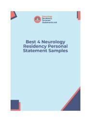 4 Best Internal Medicine Residency Personal Statement Examples