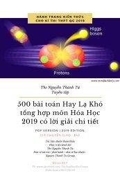 500 bài toán Hay Lạ Khó tổng hợp môn Hóa Học 2019 có lời giải chi tiết