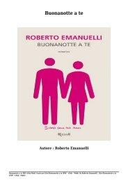 Scaricare Libri Buonanotte a te Gratis Di Roberto Emanuelli