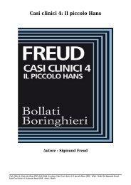 Scaricare Libri Casi clinici 4- Il piccolo Hans Gratis Di Sigmund Freud
