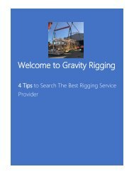 Tips to Search The Best Rigging Service Provider