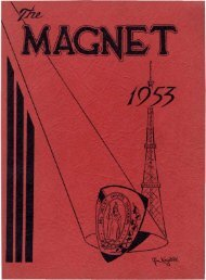 Jarvis Magnet Yearbook - 1953
