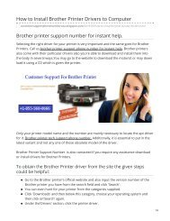 Brother Printer Support Number +1-855-560-0666 To solve Issues