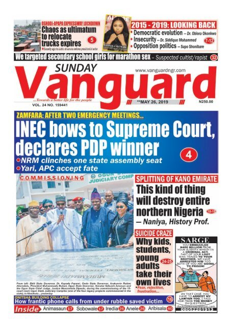 INEC bows to supreme court declares pdp winner