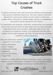 Top Causes of Truck Crashes