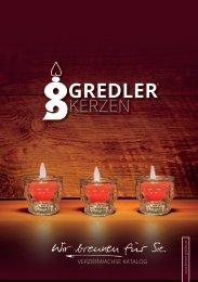 Kerzen Gredler Verzierwaschs Katalog