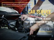Car Service - A Regular Task to Keep Your Car's Condition Intact