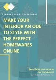 Make your interior an ode to style with the perfect homewares online