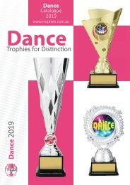 2019 Dance Trophies for Distinction