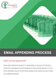 Email Appending Service - Email Appending Process Chart