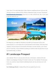 Andaman or Goa which is best for honeymoon.