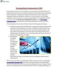 Accounting Companies UAE