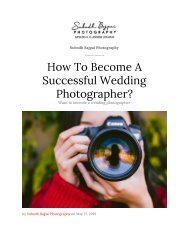 How To Become A Successful Wedding Photographer?