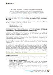 Communiqué de Presse - EdTech Investor Day - HEADway Advisory