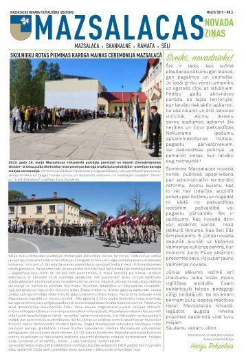 Mazsalacas novada ziņas_maijs2019