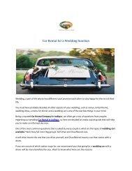 Car Rental for a Wedding function