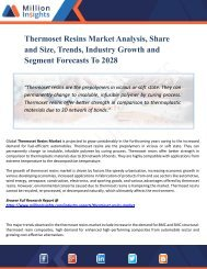 Thermoset Resins Market - Global Industry Analysis, Size, Share, Growth, Trends and Forecast 2028