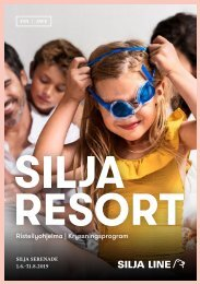 Cruise Program Silja Serenade FIN&SWE 1.6.–31.8.2019